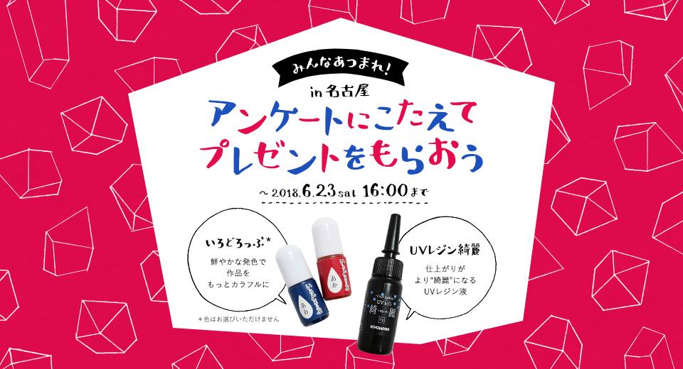 みんなあつまれ!in名古屋 アンケートにこたえてプレゼントをもらおう ~2018.6.23sat 16:00まで