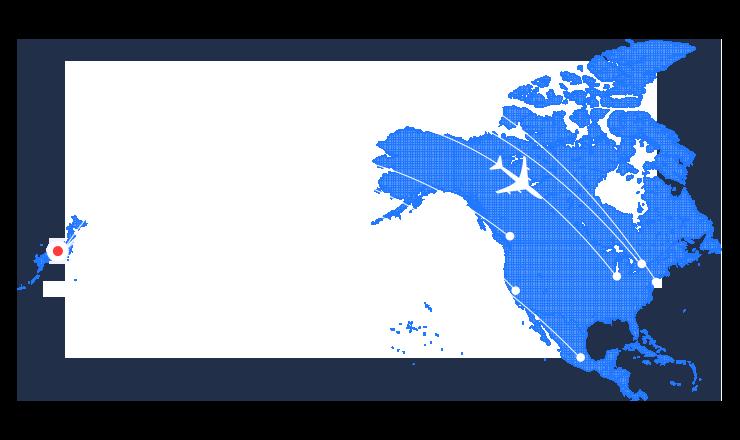 North Americaの地図