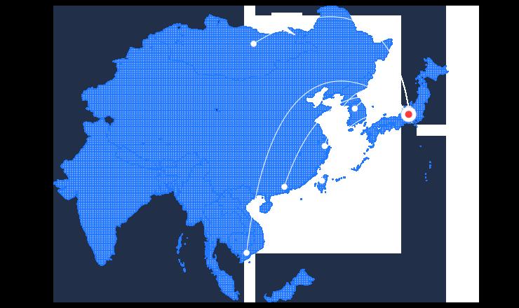Asiaの地図