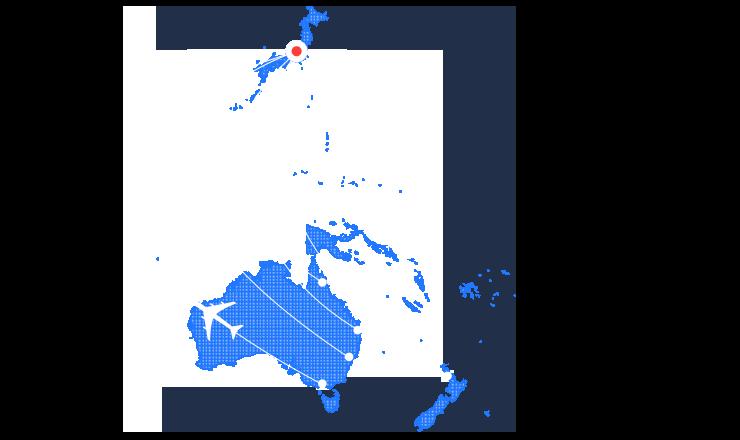 オセアニアの地図